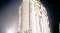 Flight 157 - Ariane 5 ECA on the launch pad