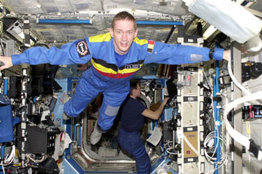Frank De Winne on board the ISS