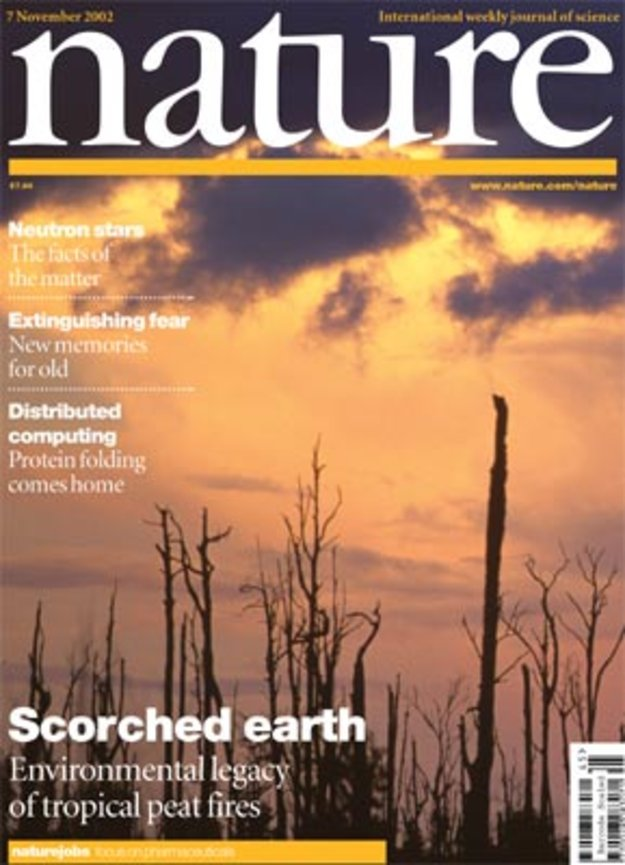 nature magazine space study 2002 science journal highlights earth esa observing indonesian imagery fires storage int