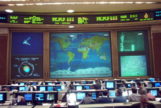 Awaiting the docking in the TSUPground control centre in Korolev