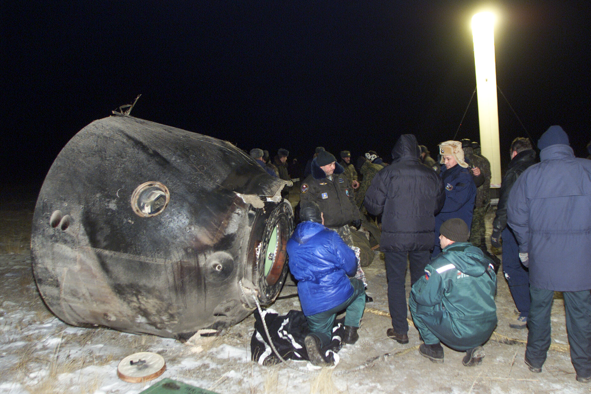 Odissea Mission crew members land in Kazakhstan