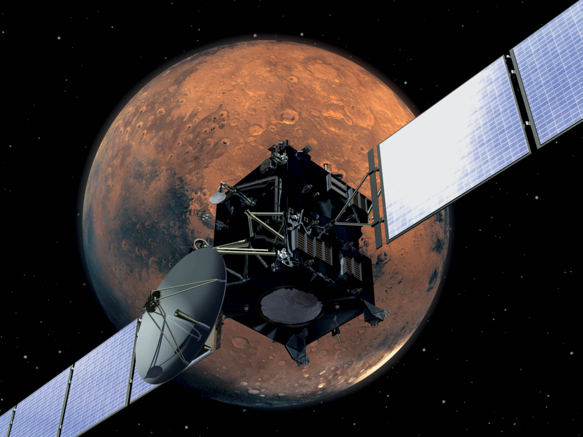 Rosetta will fly past Mars at a distance of about 250 kilometres