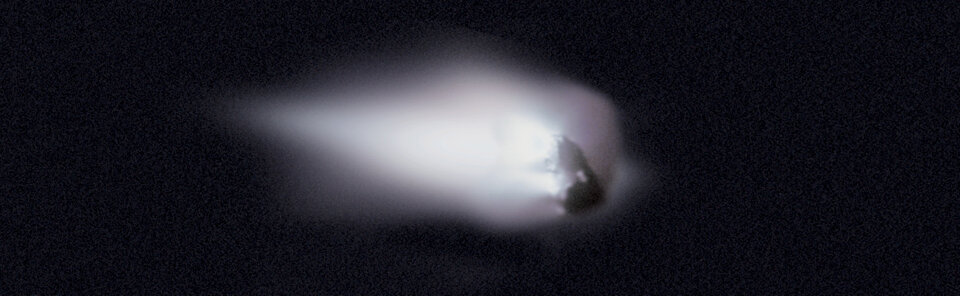 The nucleus of Comet Halley