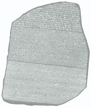 The Rosetta Stone, discovered in 1799