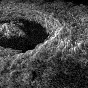 View of the Golubkina crater on Venus