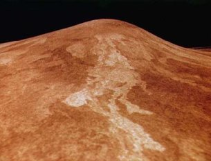 View of the volcano Sif Mons on Venus