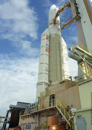 Ariane 5 ECA on the launch pad