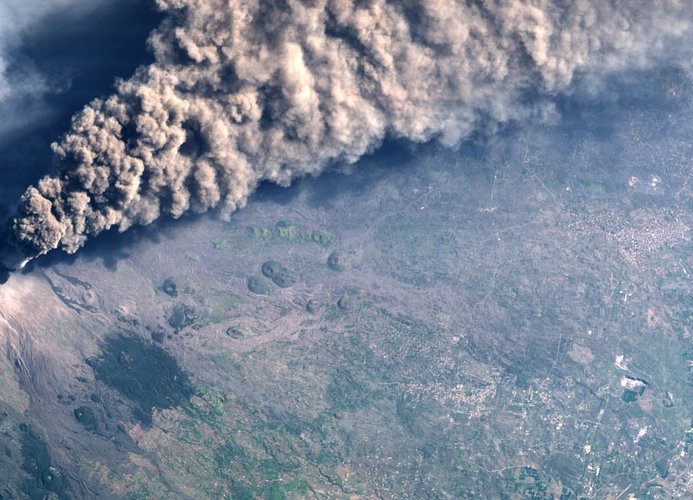 Etna Volcano, Italy - CHRIS image - 30 October 2002