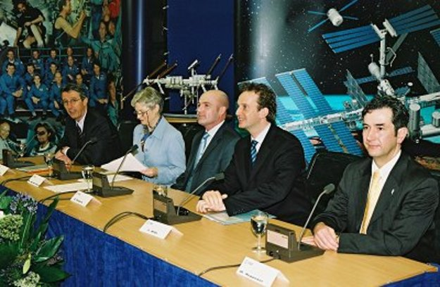Press conference panel