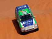 Pescarolo at '2003 Dakar Rally' takes advantage of space tech