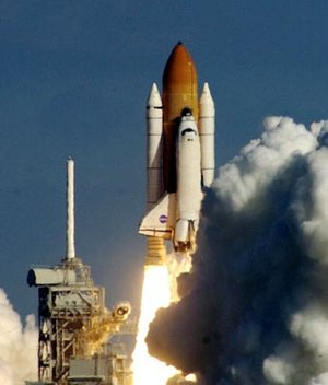 Liftoff of space shuttle Columbia on STS-107