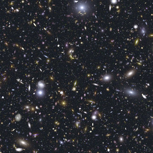 Simulated image of the distant Universe as seen by JWST