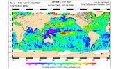 Envisata, RA-2 - Sea Level Anomaly in October 2002