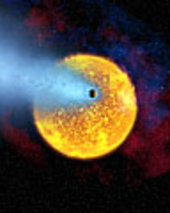 European astronomers observe first evaporating planet