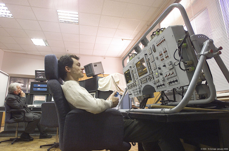 Pedro Duque during Soyuz training at Star City