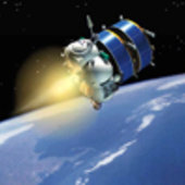 Artist's impression of Fregat carrying two Cluster spacecraft in