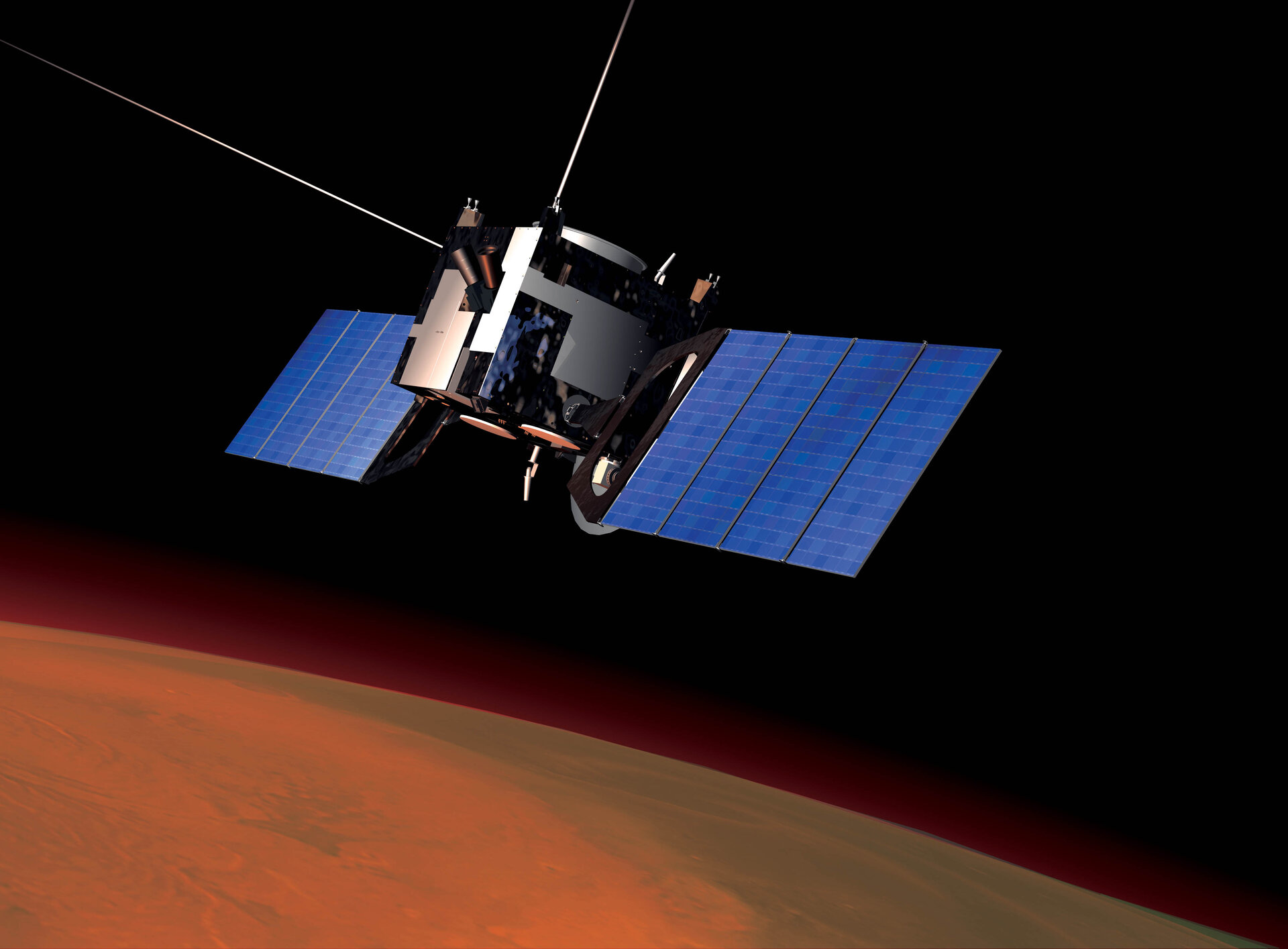 Artist's impression of Mars Express in orbit around Mars