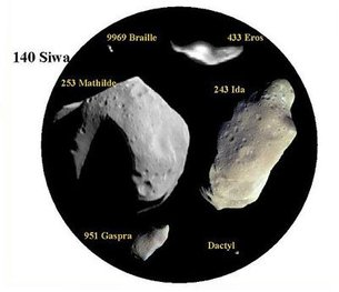 Asteroids come in many shapes and sizes