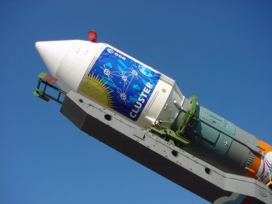 Ready to fly: unusual view of Cluster launcher / Space ...