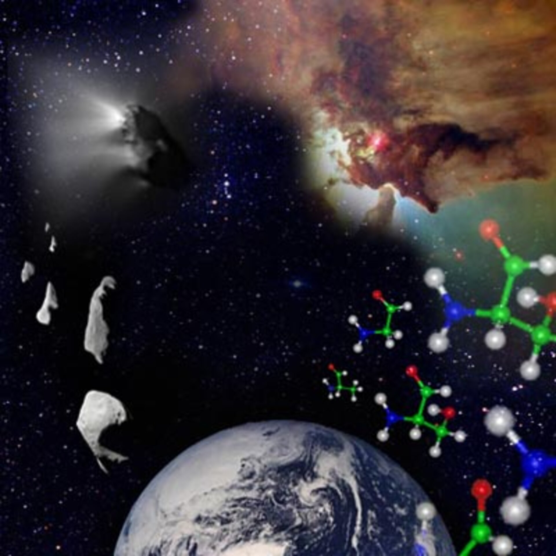 Did the main ingredients for life come from outer space?