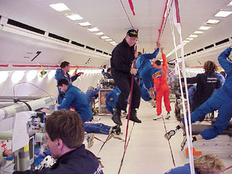 Floating during the 34th ESA Parabolic Flight Campaign