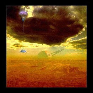 The Huygens probe descends through Titan's atmosphere