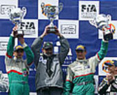 Pescarolo Sport Team on the podium at Estoril, Portugal