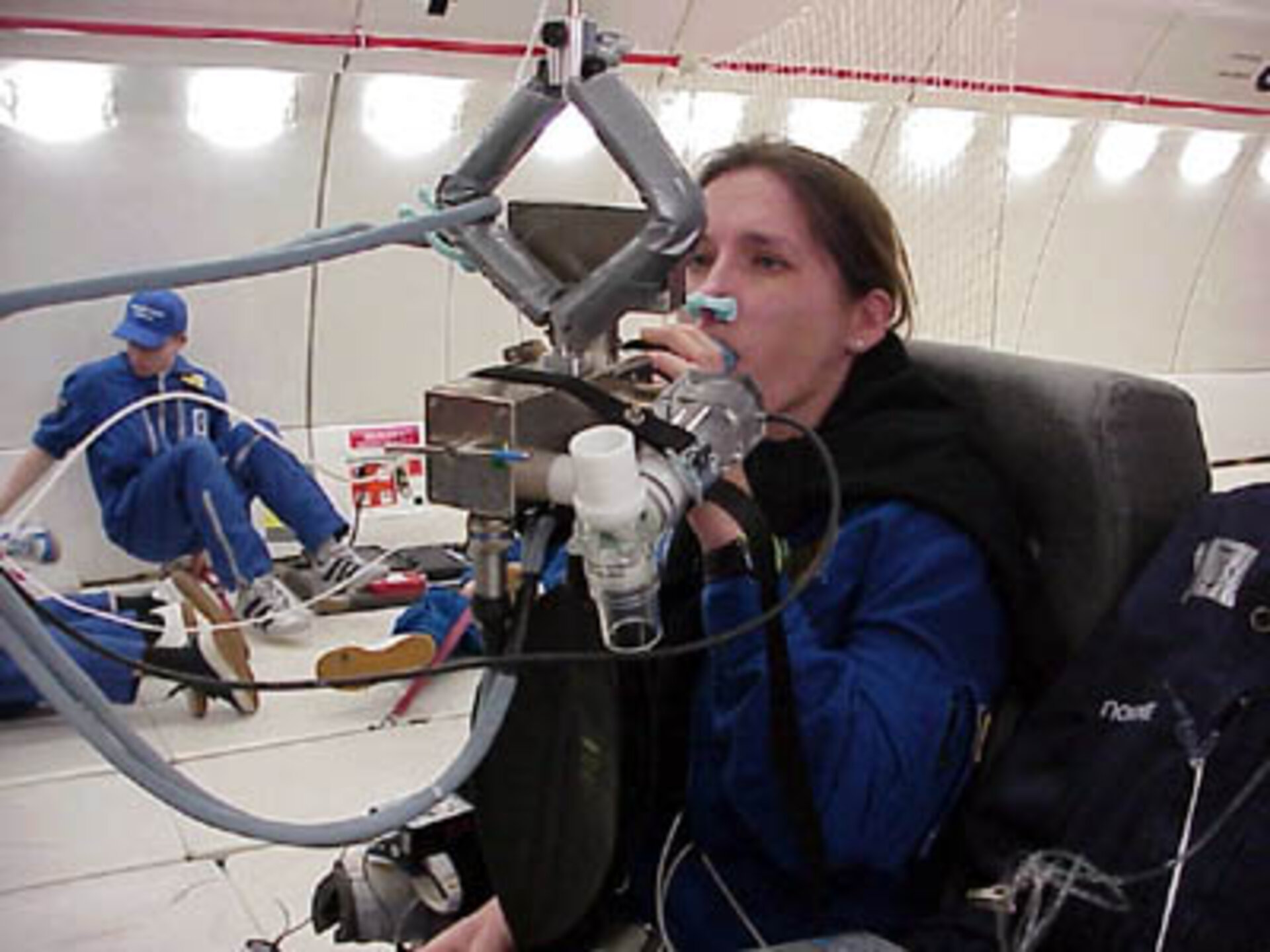 The Pulmonary Function System measures how lung function alters in microgravity