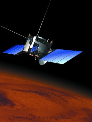 The Mars Express spacecraft after release of the Beagle 2 lander