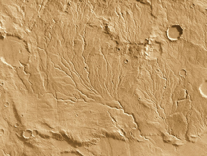 Valley networks suggest that rivers once flowed on Mars