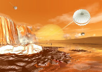 Will Huygens land or splashdown on Titan?