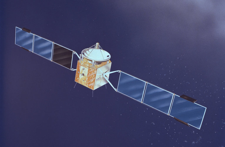 An artist's impression of ESA's Marecs maritime communications satellite