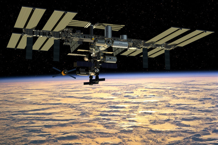 Artist's impression of the completed International Space Station