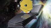 Artist's impression of the JWST