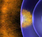 Earth's magnetic field is buffeted by solar wind