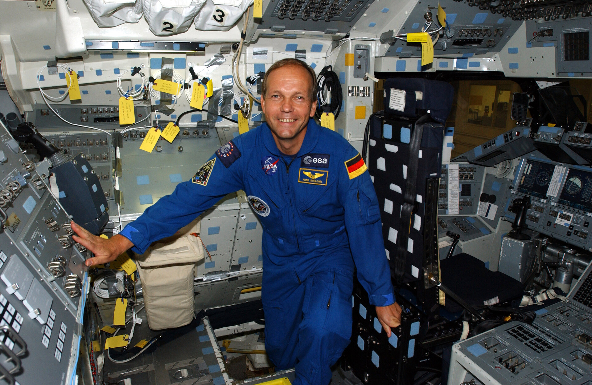 ESA astronaut Hans Schlegel during training in Houston