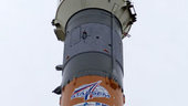 29 May 2003 - Mars Express mission logos on the Soyuz on the lau