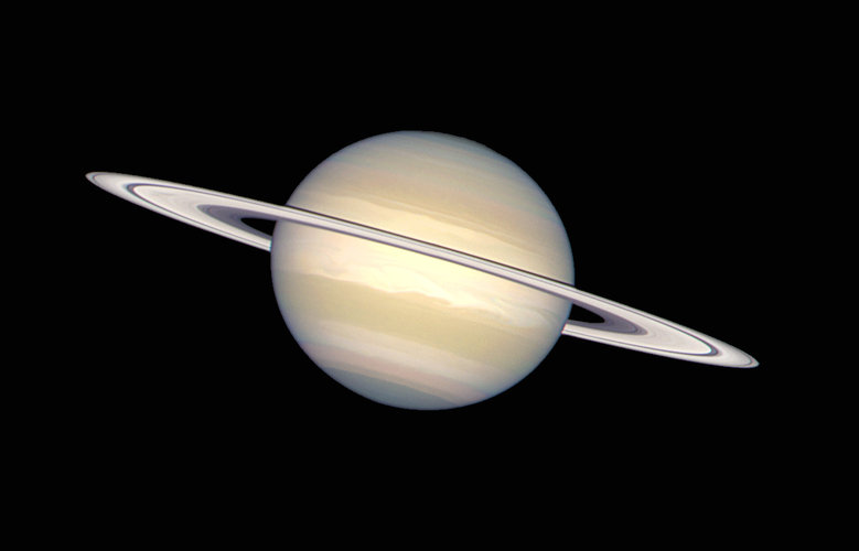Saturn's rings contain ice and dust