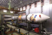 29 May 2003 - The Soyuz launcher ready to transport to the launc