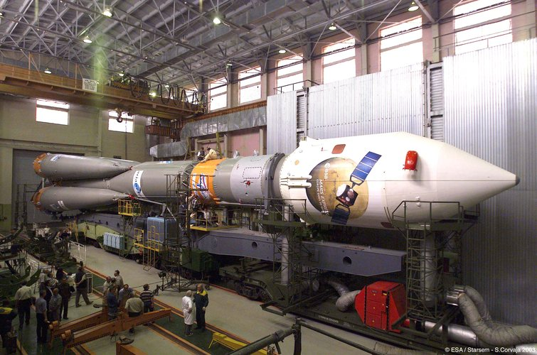 Soyuz ready to transport to the launch pad