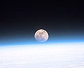 Space Shuttle Discovery sees Earth's Moon