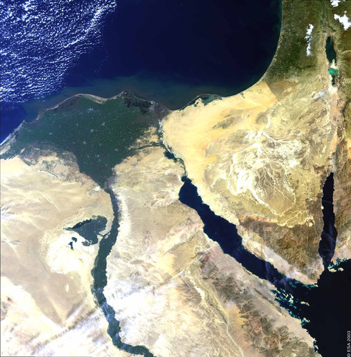 The Nile Delta – MERIS, 1 March 2003