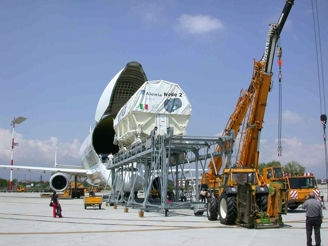 Node 2 was transported to Florida by Airbus Beluga