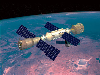 Artist's impression of ISS as of July 2000