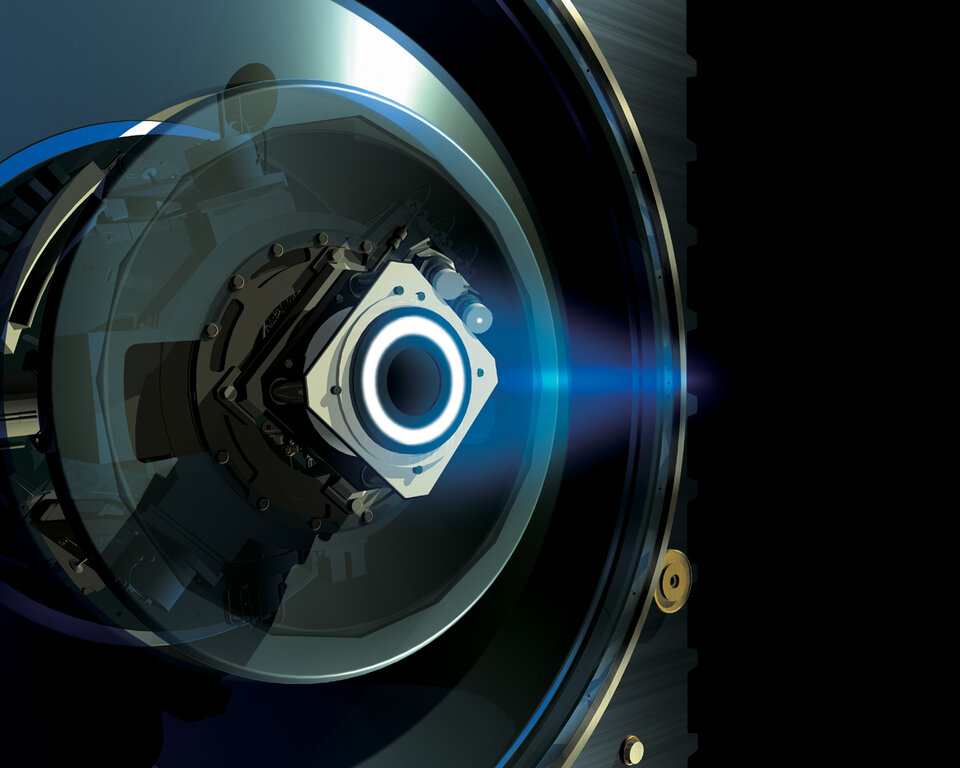 Artist's impression of SMART-1 ion engine