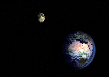 Binary system Earth-Moon