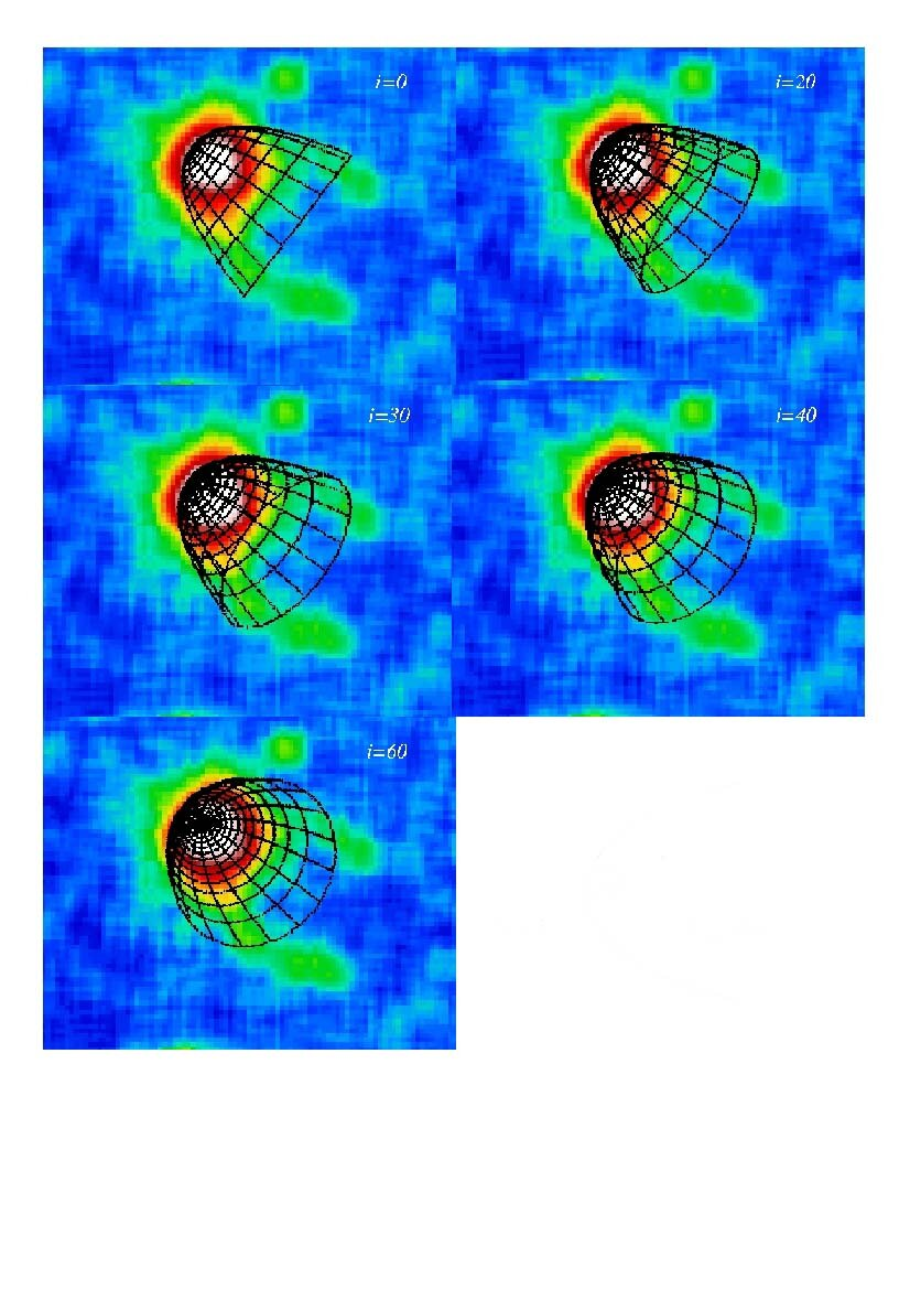Computer models of the shockwave created by Geminga