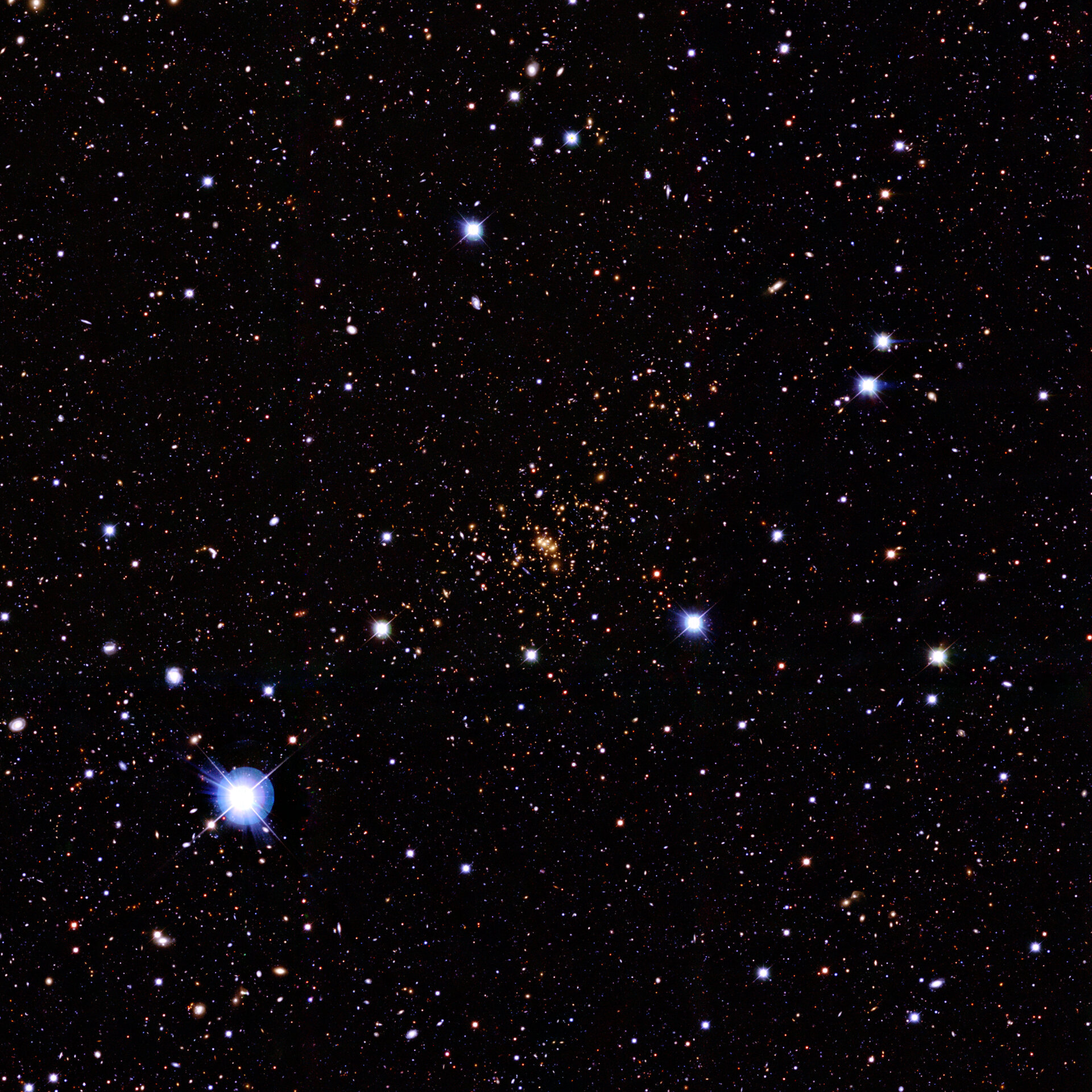 Ground-based image of the galaxy cluster C10024+1654