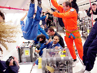 Inside the Airbus A-300 'Zero-G' during the 6th Student Parabolic Flight Campaign, 16-31 July 2003
