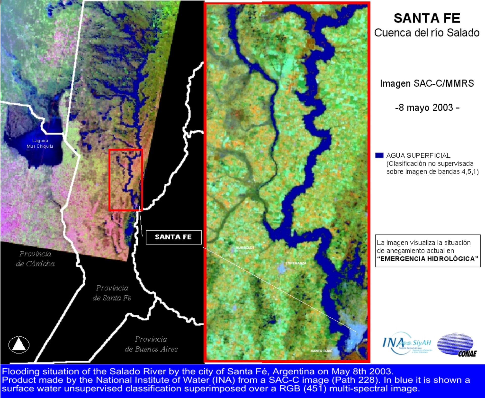SAC-C imagery helps assess flood damage in Santa Fe city